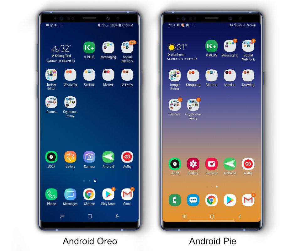 NuuNeoI - พาดู Android Pie บน Samsung Galaxy Note 9 อัปเดต